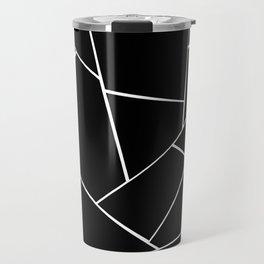 Black White Geometric Glam #2 #geo #decor #art #society6 Travel Mug