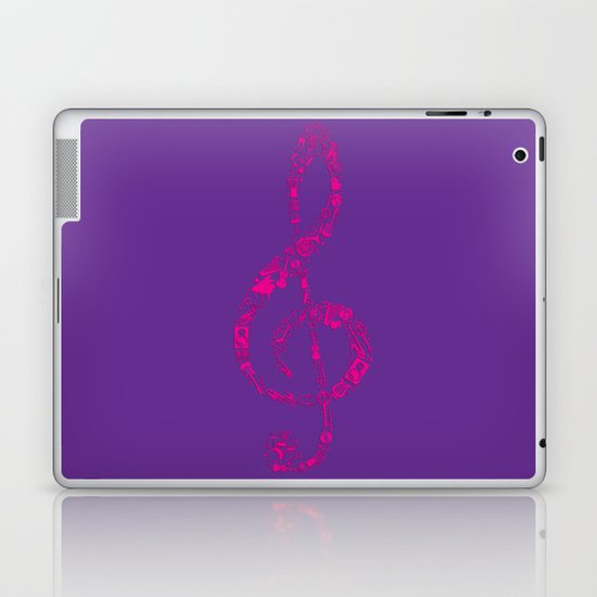 If music be the food of the soul, play on. Laptop & iPad Skin