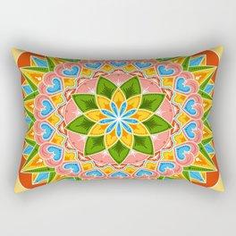 Costa Rica Folk Pattern – Decorated painting wheel of coffee ox cart Rectangular Pillow