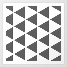 Sleyer Dark Grey on White Pattern Art Print