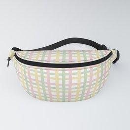 Pastel Color Gingham Tartan Seamless Pattern Fanny Pack