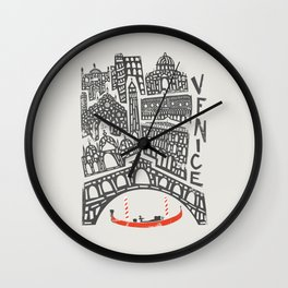 Venice Cityscape Wall Clock