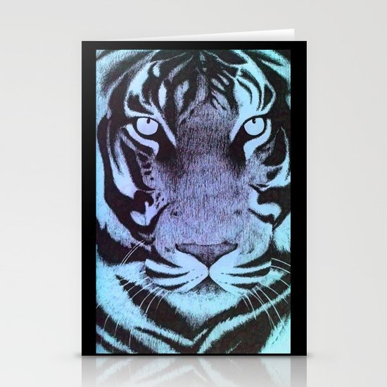 Be a Tiger (Blue) Stationery Cards