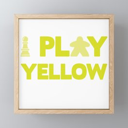 Show Your Game Color - Yellow Framed Mini Art Print