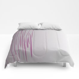 Wild ethnic lines pink grey Comforters