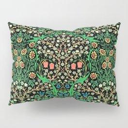 William Morris Jacobean Floral, Black Background Pillow Sham