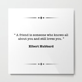 Elbert Hubbard Quote Metal Print