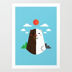 Grizzly & Polar Art Print