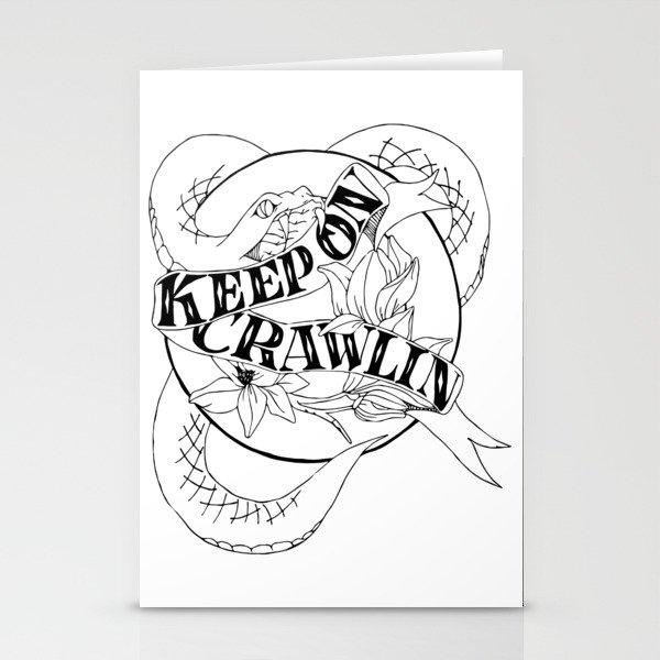 Crawling King Snake Stationery Cards