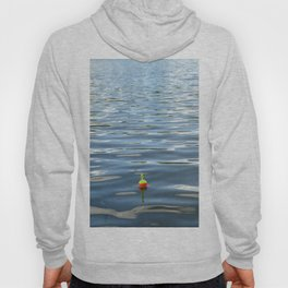 Fishing Bobber in Water Color Photograph Hoody