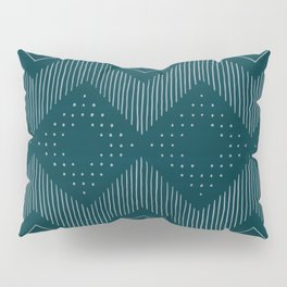 Teal Tribal Pillow Sham