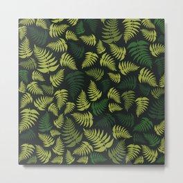 Fern Fronds in Olive Green Tones Metal Print