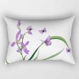 Butterflies and flowers Rectangular Pillow
