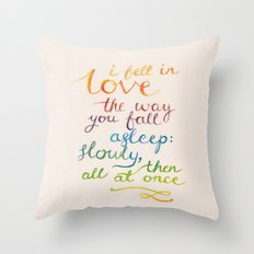 All At Once Throw Pillow