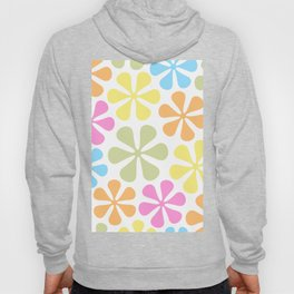 Abstract Flowers Bright Color Mix Hoody