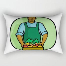 African American Green Grocer Greengrocer Mascot Rectangular Pillow