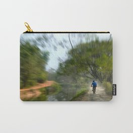 Epic Shot Cycling The Canal Route In Kerala, India Carry-All Pouch