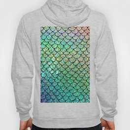 Colorful Glitter Mermaid Scales II Hoody