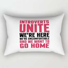 Introverts Unite Funny Quote Rectangular Pillow