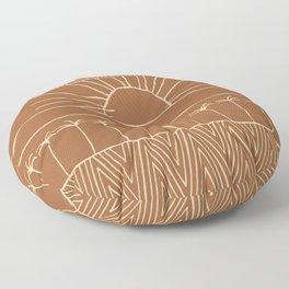 Palm-Tree row Floor Pillow