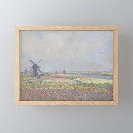 Tulip Fields near The Hague Framed Mini Art Print