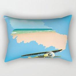 Belle Île island France Map. Rectangular Pillow