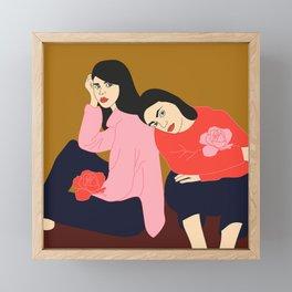 Complicité Framed Mini Art Print