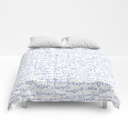 Blue Math Equations Comforters