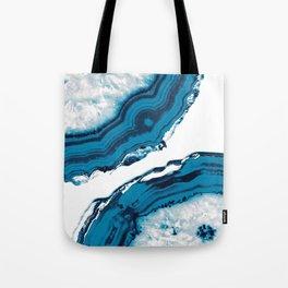 Blue Agate #2 #gem #decor #art #society6 Tote Bag