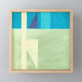 Solitaire du Figaro (blue) Framed Mini Art Print