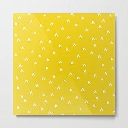 Arrow Heads // Mustard Metal Print