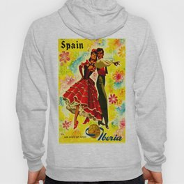 Vintage Spain Travel Ad - Flamenco Hoody