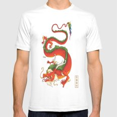 Year of the Dragon MEDIUM Mens Fitted Tee White