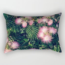 Mimosa Tree Floral Pattern | Photography | Tropical | Pink aesthetic Rectangular Pillow