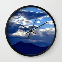 Blue Sky Dusk Wall Clock