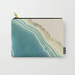 Geode Turquoise + Cream Carry-All Pouch