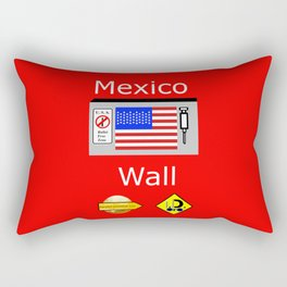 Mexico Wall Rectangular Pillow