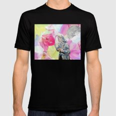 FLOWERS OR LOVERS MEDIUM Mens Fitted Tee Black