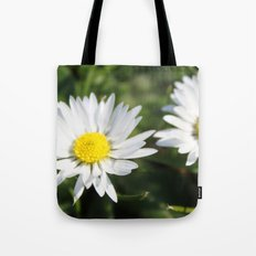 wild white daisy flowers. floral photography. Tote Bag