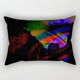 fantasy city at night Rectangular Pillow
