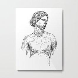 Aphrodite Greek Goddess Metal Print