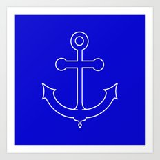 Nautical Anchor Art Print