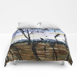 Nude landscape Comforters