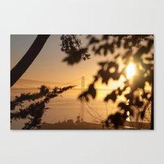 Bay Bridge - Sunrise Canvas Print