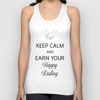 Earn Your Happy Ending [Black] Unisex Tank Top