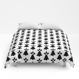 Black and White Ermine Spots French Country Print Comforters