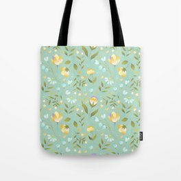 Colourscape Summer Floral Pattern Nebula Tote Bag
