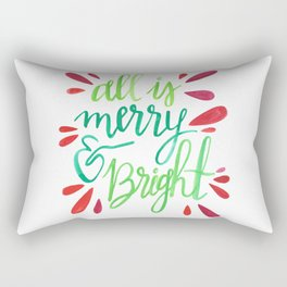 All is Merry and Bright Rectangular Pillow