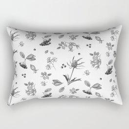 rosehip, chokeberries and teasel Rectangular Pillow