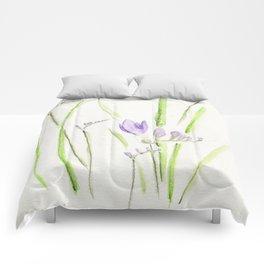 Violet Freesia Comforters